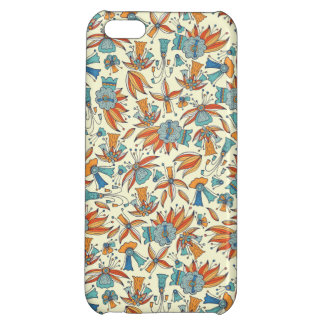 Abstract floral pattern design iPhone 5C covers