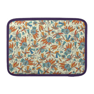 Abstract floral pattern design MacBook sleeve