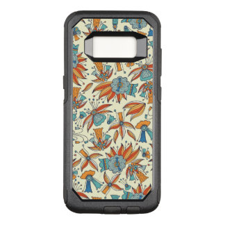 Abstract floral pattern design OtterBox commuter samsung galaxy s8 case