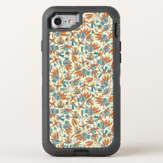 Abstract floral pattern design OtterBox defender iPhone 8/7 case