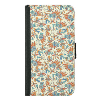 Abstract floral pattern design samsung galaxy s5 wallet case