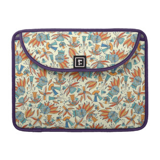 Abstract floral pattern design sleeve for MacBooks