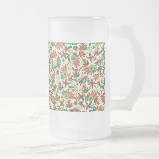 abstract floral pattern Frosted Glass Mug design