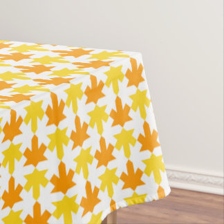 Abstract Floral Pattern in Halloween Colors Tablecloth