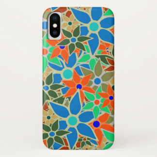 Abstract Floral Pattern iPhone X Case