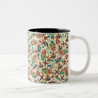 abstract floral pattern Mug design