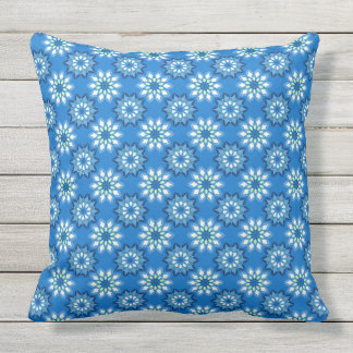 Abstract floral pattern outdoor pillow
