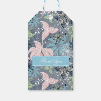 Abstract Floral Pattern Pack Of Gift Tags