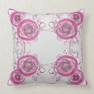 abstract floral pattern pillow