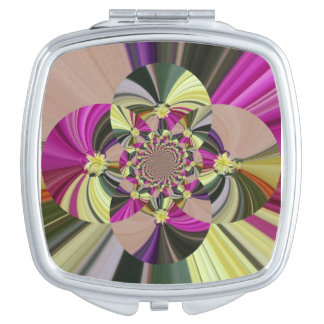 Abstract Floral Pattern Travel Mirror