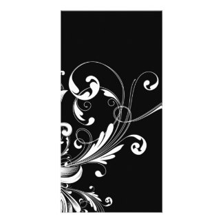 Abstract Floral Photo Card Template