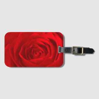 Abstract Floral Photography - Red Rose Center Bag Tag