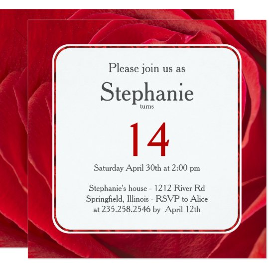 Abstract Floral Photography Red Rose Template Card