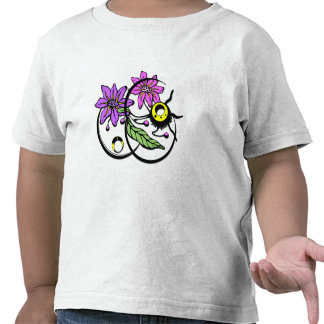 Abstract Floral - Purple & Pink Tee Shirt