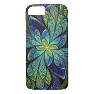Abstract Floral Stained Glass La Chanteuse IV iPhone 8/7 Case