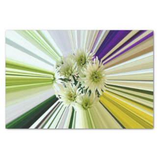 Abstract Floral Striped Kaleidescope Tissue Paper