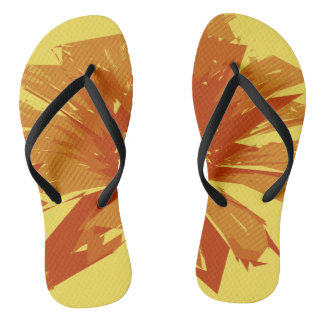 Abstract Floral Summer Duotone Flip Flops