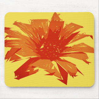 Abstract Floral Summer Duotone Mouse Pad