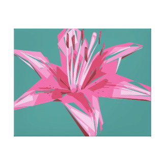 Abstract Floral Summer Lily Canvas Print