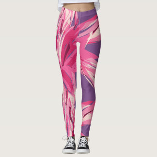Abstract Floral Summer Lily Leggings