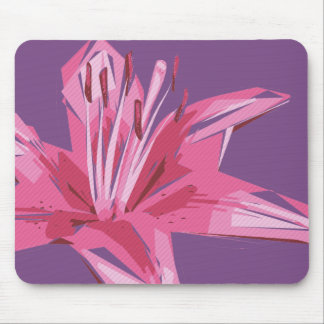 Abstract Floral Summer Lily Mouse Pad