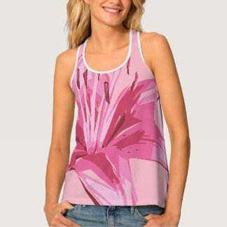 Abstract Floral Summer Lily Tank Top