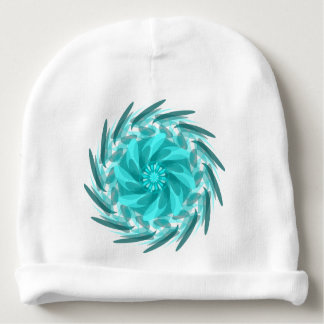 Abstract floral swirl. baby beanie