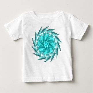 Abstract floral swirl. baby T-Shirt