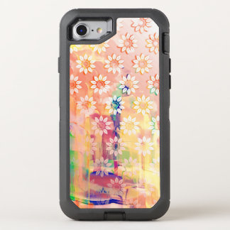 Abstract Floral Watercolor OtterBox Defender iPhone 8/7 Case