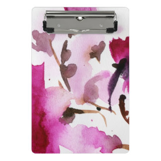 Abstract floral watercolor paintings 4 mini clipboard