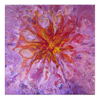 Abstract flower acrylic wall art