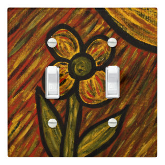 Abstract Flower Autumn Colors Light Switch Cover