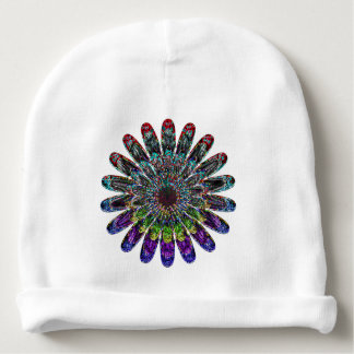 Abstract flower. baby beanie