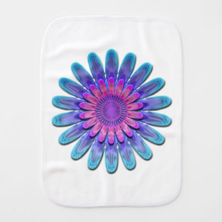 Abstract flower. baby burp cloth
