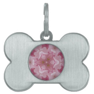 abstract flower background pet name tags