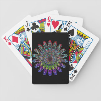 Abstract flower. bicycle playing cards