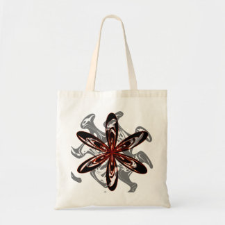 Abstract flower budget tote bag