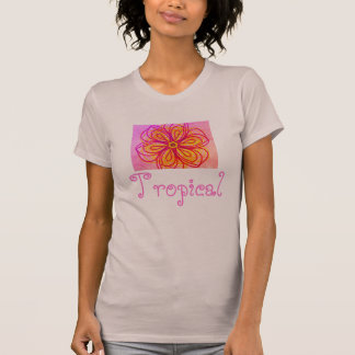 Abstract Flower Cool Ladies Tropical Shirt