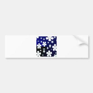 Abstract Flower Flower Pattern Bumper Sticker
