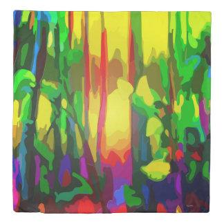 Abstract Flower Garden Duvet Cover