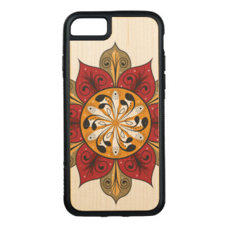 Abstract Flower Illustration Carved iPhone 8/7 Case