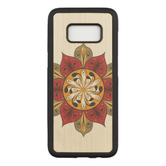 Abstract Flower Illustration Carved Samsung Galaxy S8 Case