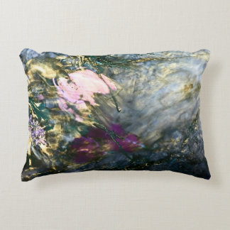 Abstract Flower in Water Accent Pillow
