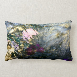 Abstract Flower in Water Lumbar Pillow