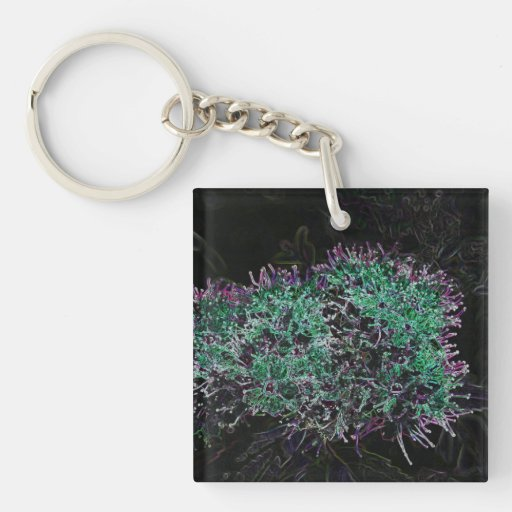 Abstract Flower Acrylic Key Chains