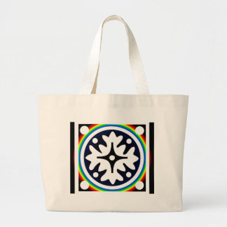 Abstract Flower Leaves Design Large Tote Bag