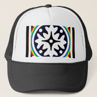 Abstract Flower Leaves Design Trucker Hat