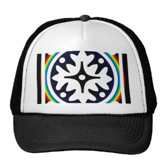 Abstract Flower Leaves Design Trucker Hat