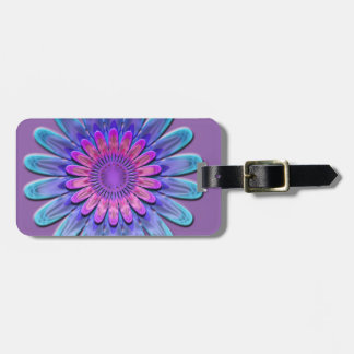 Abstract flower. luggage tag