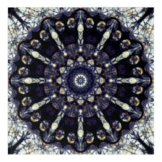 Abstract Flower Mandala Acrylic Wall Art